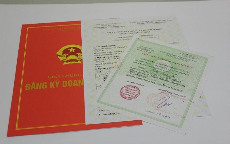 Một mẫu giấy phép đăng ký kinh doanh được cấp